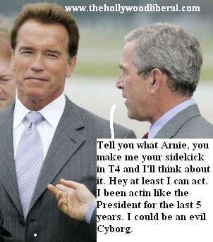 President Bush and Arnold Schwarzneggar