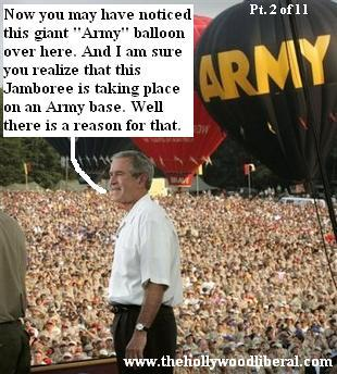 The President gives a speech at Fort AP Hill, To The Boy Scouts of America Jamboree.