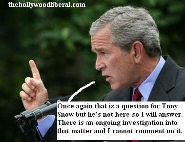 Bush answers reporters