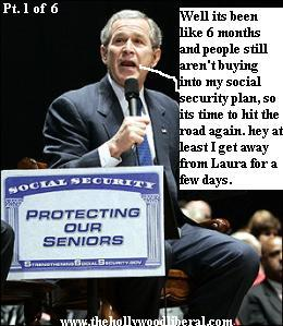 President Bush goes on the road for Social Security again. 060505