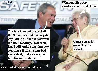 President Bush finds someone who he thinks agrees with his Social Security plan 060505