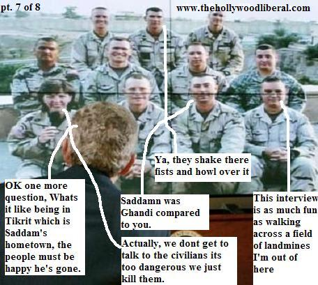 Bush stages a discussion, and gets caught.