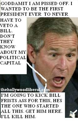 Bush Veto's The Stem Cell Bill first time ever.