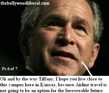 President Bush has a message to the student from Kansas