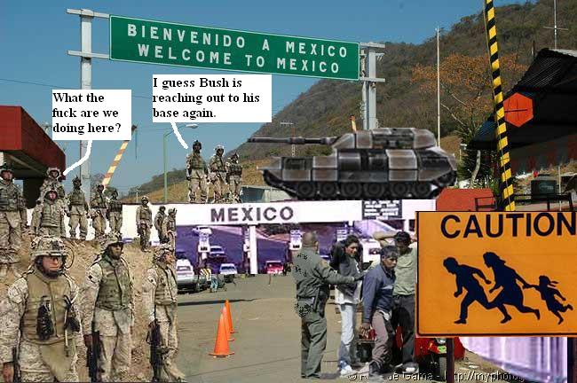 U.S. Army patrolling Mexican border
