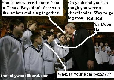 President Bush meets The Vienna Boys Choir
