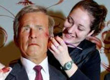 Wax figure of George W. Bush damaged at madame toussauds