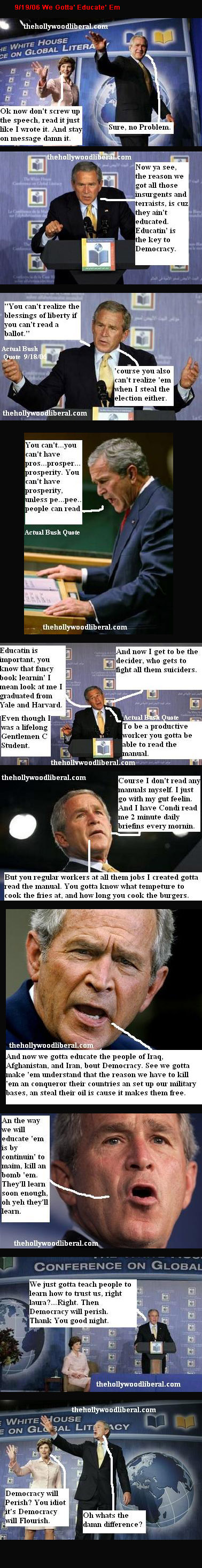Bush preaches education