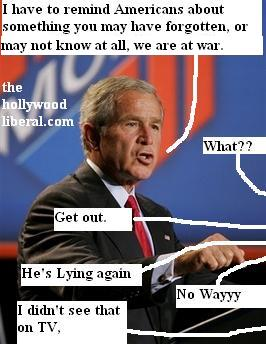 Bush reminds us were at war