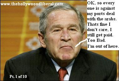Bush can't beleive that people are against his ports deal.