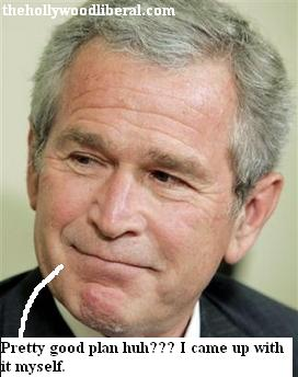 Bush smiles as he talks about terrorists death