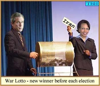 The winner is Iraq, Bush and Rice pick new war lotto winner