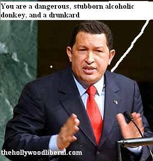 Hugo Chavez and alcoholic adversary George W. Bush