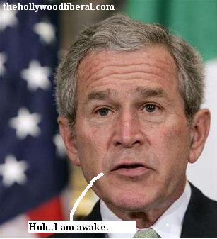 President Bush falling asleep
