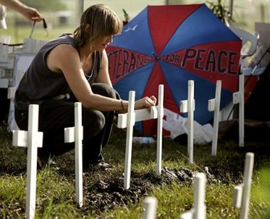 Cindy Sheehan's son died in Iraq war, she wants to know why 081105?