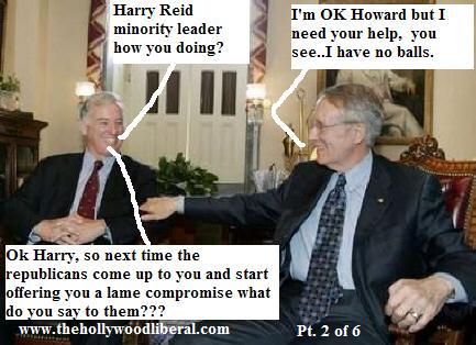 Howard Dean meets with Democratic Minority Leader Harry Reid of Nevada