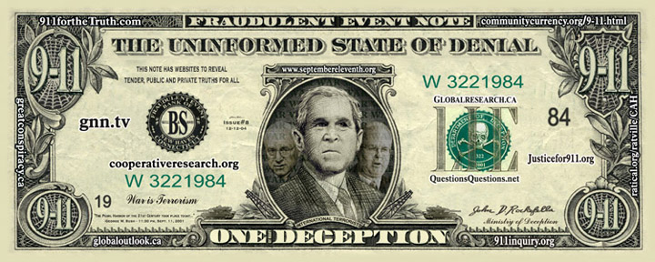Bush's face on the dollar bill 011405
