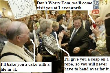 Tom Delay met with a group of his supporters in Texas after being indicted for corruption 100205