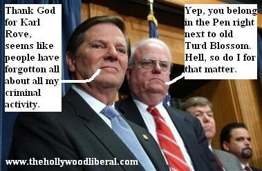 Tom Delay is Happy the heat is on Rove for a change 071205