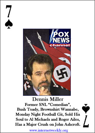 This is from I got paid to Boo Dennis Miller by H.L.