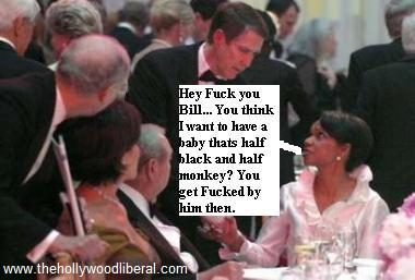 Bill Frist, and Condi Rice speak at Nancy Reagan Tribute with a couple of Republican boneheads in the background 051105