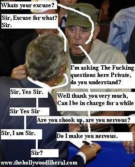Full Metal Jacket star Lee Ermey meets with President Bush