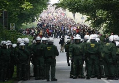 Protesters converge on G-8 Summit in Germany
