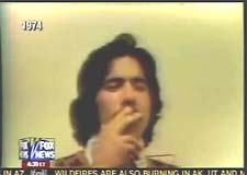 Geraldo Rivera smoking pot 1974