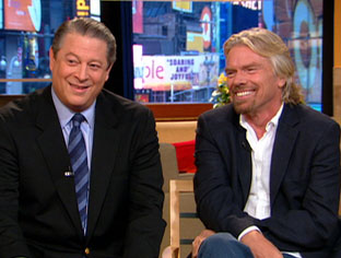 Richard Branson and Al Gore Take Global initiative