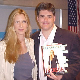 Sean Hannity and Ann Coulter at book signing