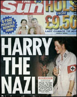 Prince Harry from England wore a Nazi uniform to a party 011305