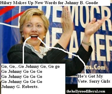 Hilary Clinton loves Judge John Roberts, she will vote to confirm him, she even wrote a song about it 072605