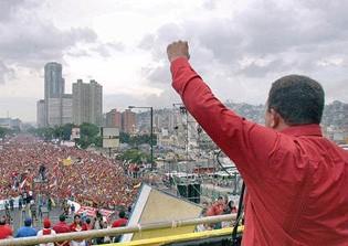 Venezuela President Hugo Chavez.