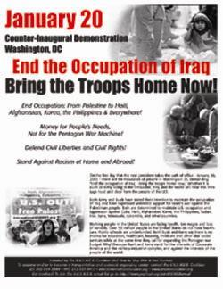 January 29, 2005 Washington D.C. protest flyer