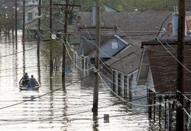 Hurricane Katrina left devastation, and floods in New Orleans, and Mississippi