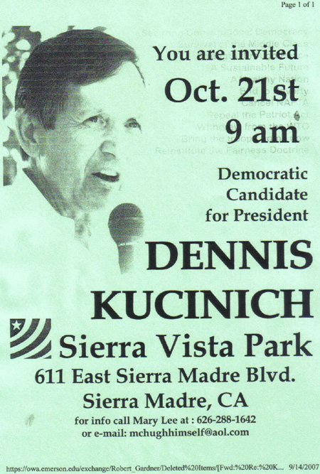 dennis kucinich speaks live