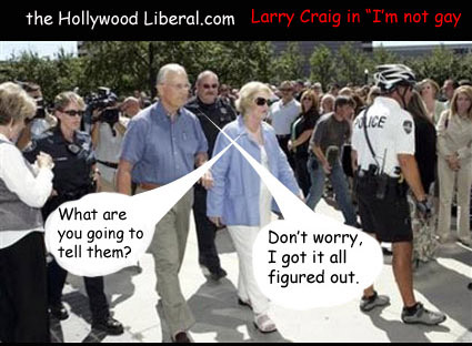 Larry Craig tells people he is not gay