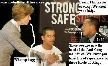 Laura Bush is now in charge of the anti-gang task force 060705