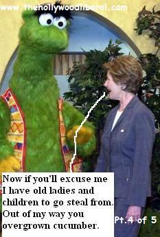 Laura Bush on Sesame St.
