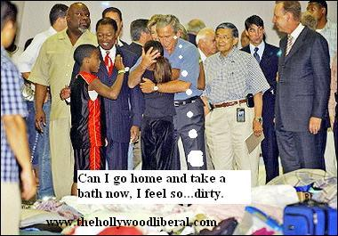 The Clintons and Bush's Go To Houston to meet victims of Hurricane Katrina and show they care