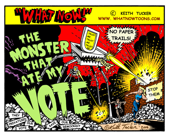 The monster that ate my vote comic