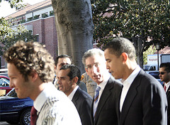 Barack Obama at vote rally at USC