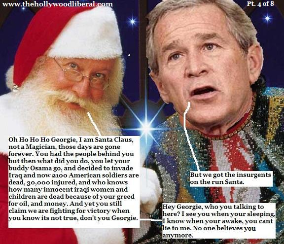Bush wants political capital back for christmas.
