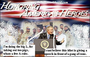 Bush gives a speech to a prison gang