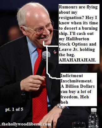 Dick Cheney, whos assistant Scooter Libby is about to be indicted 101805