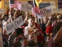 Ron Paul supporters gather at rally