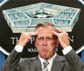 Donald Rumsfeld is criminally insane