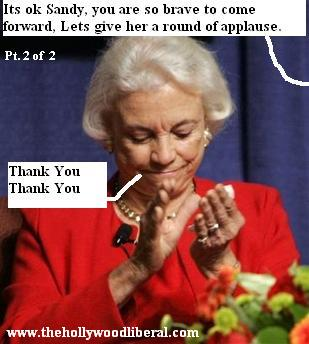 Retiring Justice Sandra Day O'Connor gets a round of applause she is, after all a hero