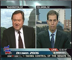 Tim Russert and Ken Mehlman appear on TV