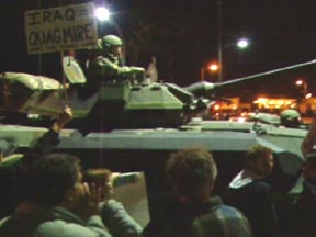 Now there bringing tanks out at protests